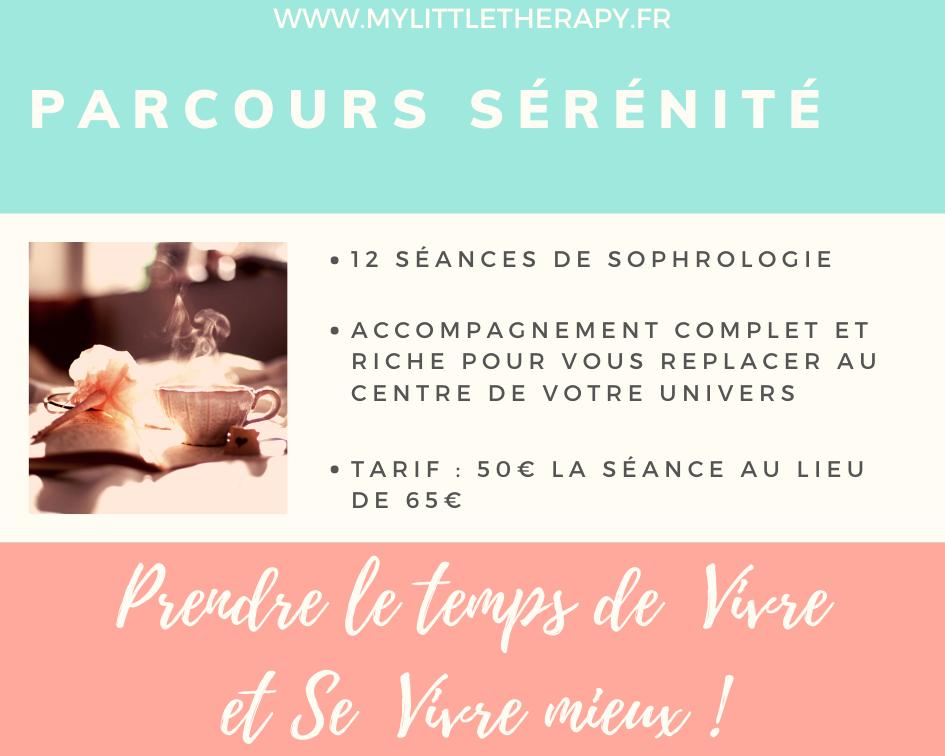 Parcours Sérénité - 12 séances de Sophrologie