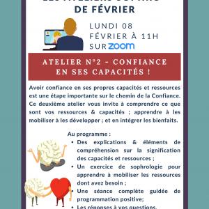 Atelier Sophro' n°2 - Confiance en ses capacités !